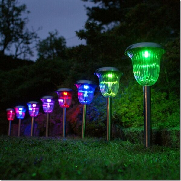 Solar Powered Landscape Lights